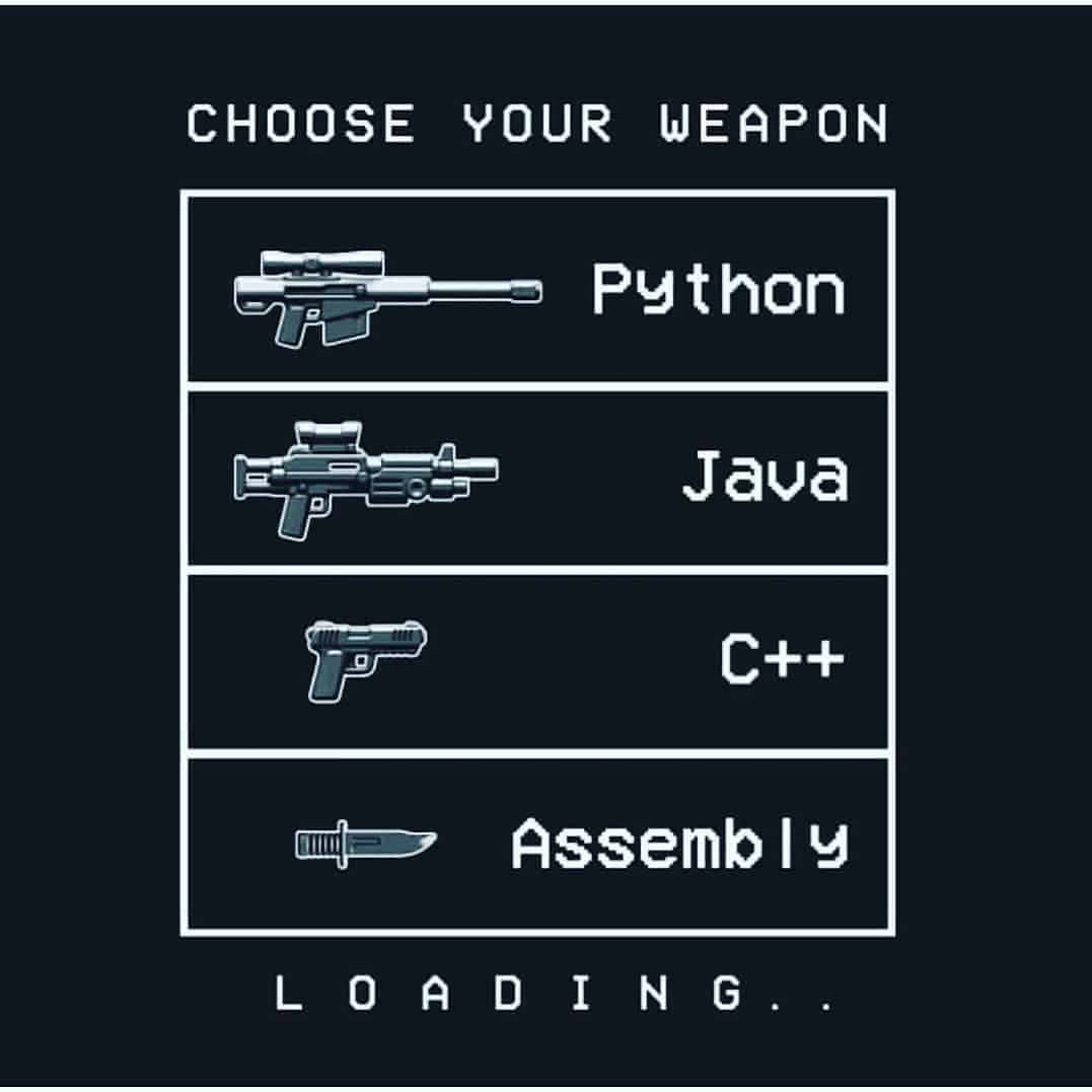 Choose your programming weapon